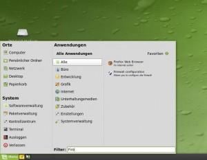 Linux Mint 7 mintMenu