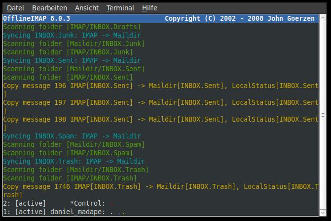 Howto imap mailbox backup mit offlineimap